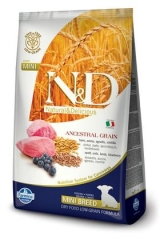N&D Low Grain Ancestral Dog Lamb & Blueberry Puppy Mini 2,5 Кг Низкозерновой  Ягненок И Черника Для Щенков Мини Farmina