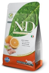 N&D Grain Free Cat Fish & Orange Adult 100 Гр Беззерновой Для Взрослых Кошек Рыба С Апельсином Farmina
