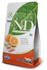 N&D Grain Free Cat Fish & Orange Adult 10 Кг Беззерновой Для Взрослых Кошек Рыба С Апельсином Farmina