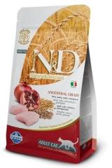 N&D Low Grain Cat Chicken & Pomegranate Adult 300 Гр Низкозерновой Для Кошек Курица С Гранатом Farmina