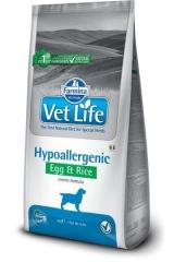 Vet Life Dog Hypoallergenic Egg & Rice 12 Кг Диета Для Собак При Пищевой Аллергии И Пищевой Непереносимости Яйцо С Рисом Farmina