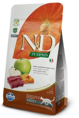 N&D Grain Free Cat Pumpkin Venison & Apple 1,5 Kg Беззерновой Для Взрослых Кошек Оленина С Яблоком и Тыквой Farmina
