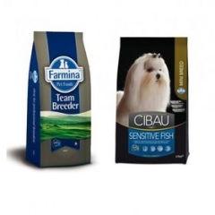 Team Breeder Dog Sensible Fish Mini 20 Кг Супер Премиум Для Взрослых Собак Мелких Пород Рыба И Рис Farmina