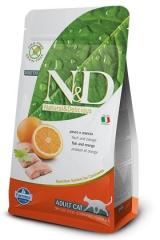 N&D Grain Free Cat Fish & Orange Adult 1,5 Кг Беззерновой Для Взрослых Кошек Рыба С Апельсином Farmina