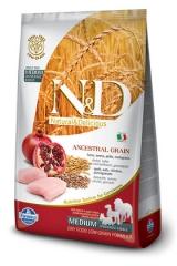 N&D Low Grain Ancestral Dog Chicken & Pomegranate Adult 12 Кг Низкозерновой Для Взрослых Собак Курица С Гранатом Farmina