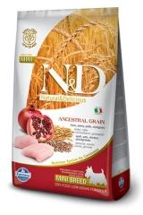 N&D Low Grain Ancestral Dog Chicken & Pomegranate Adult Mini 2,5 Кг Низкозерновой Для Взрослых Собак Мелких Пород Курица С Гранатом Farmina
