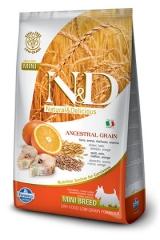N&D Low Grain Ancestral Dog Codfish & Orange Adult  Mini 2,5 Кг Низкозерновой Для Взрослых Собак Мелких Пород Треска С Апельсином Farmina