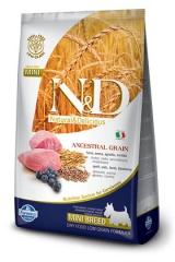 N&D Low Grain Ancestral Dog Lamb & Blueberry Adult Mini 2,5 Кг Низкозерновой Для Взрослых Собак Мелких Пород Ягненок с Черникой Farmina