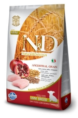 N&D Low Grain Ancestral Dog Chicken & Pomegranate Puppy  Mini 2,5 Кг  Низкозерновой Для Щенков Мелких Пород Курица С Гранатом Farmina