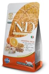 N&D Low Grain Cat Codfish & Orange Adult 10 Кг Низкозерновой Для Кошек Треска С Апельсином Farmina