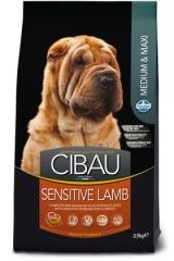 Cibau Sensitive Lamb Medium & Maxi 2.5 Кг Для Собак С Чувствительным Пищеварением  Ягненок И Рис Farmina