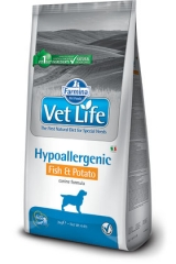 Vet Life Dog Hypoallergenic Fish & Potato 2 Кг Диета Для Собак При Пищевой Аллергии И Пищевой Непереносимости Рыба С Картошкой Farmina