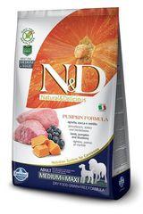 N&D  Grain Free Dog Pumpkin Lamb & Blueberry Adult Medium & Maxi 2,5 Кг Беззерновой Ягненок с Черникой и Тыквой Для Взрослых Собак Средних и Крупных пород  Farmina