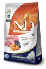 N&D Grain Free  Dog Pumpkin Lamb & Blueberry Puppy Medium & Maxi 12 кг Беззерновой Ягненок с Черникой и Тыквой Для Щенков Средних и Крупных пород  Farmina