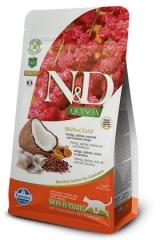N&D Grain Free Cat Quinoa Skin & Coat Herring 1,5 Кг Беззерновой Для Взрослых Кошек Сельдь И Киноа Для Здоровья Кожи И Шерсти Farmina