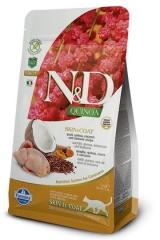 N&D Grain Free Cat Quinoa Skin & Coat Quail 300гр Беззерновой Для Взрослых Кошек Перепел И Киноа Для Здоровья Кожи И Шерсти Farmina