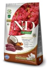 N&D Grain Free Dog Quinoa Skin & Coat Venison Adult 2,5 Кг Беззерновой Для Взрослых Собак Оленина И Киноа Для Здоровья Кожи И Шерсти Farmina
